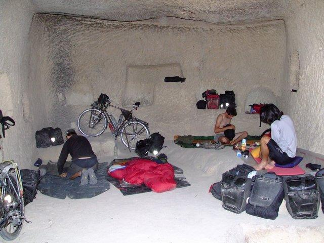 cave camping