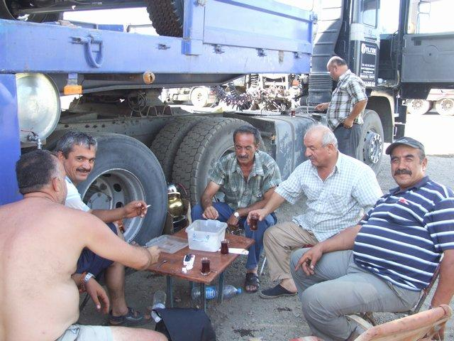 Tea with the Turkish Truckers
