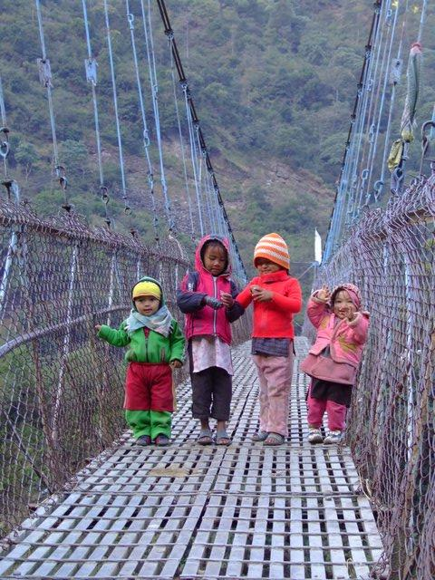 Kids on the bridge