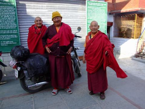 monks and my bike