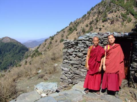 Monks on the mountain