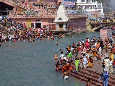 the Holy Ganga at Hardiwar
