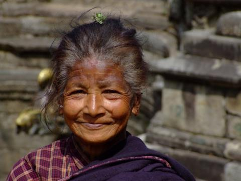 Lady in Bakhtapur