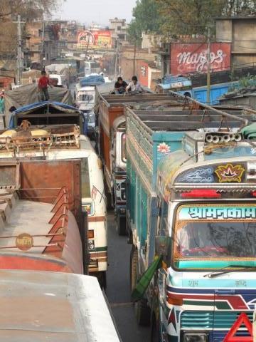 into Kathmandu