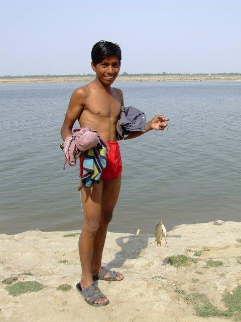 fishing in the Ganga