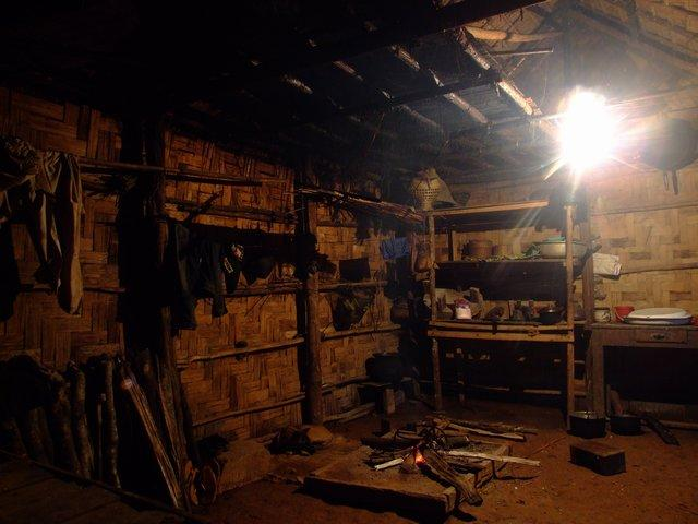 inside a Laos home