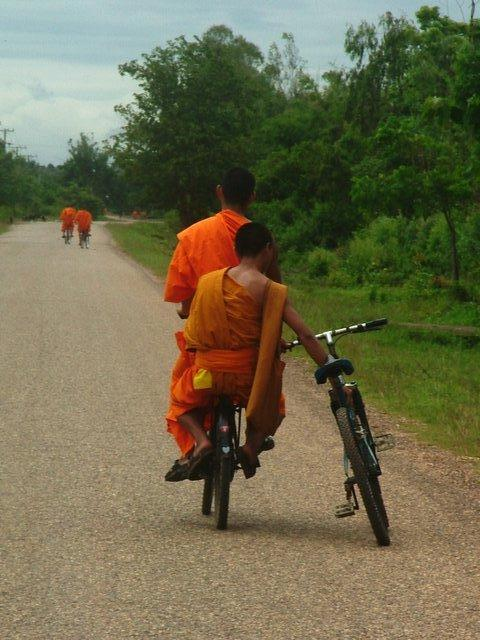 monks get flat tyres too