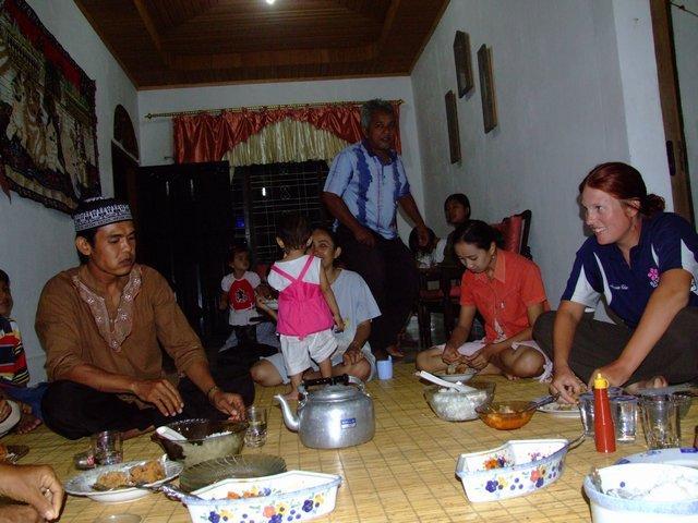 dinner at Deni's house