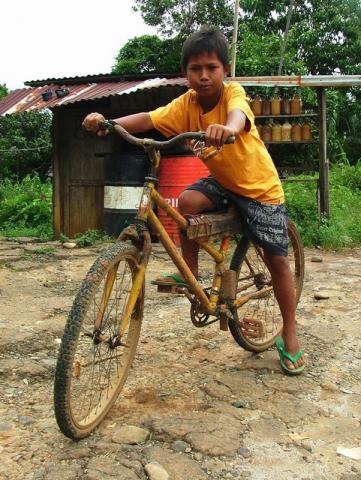 the boy and his bicycle