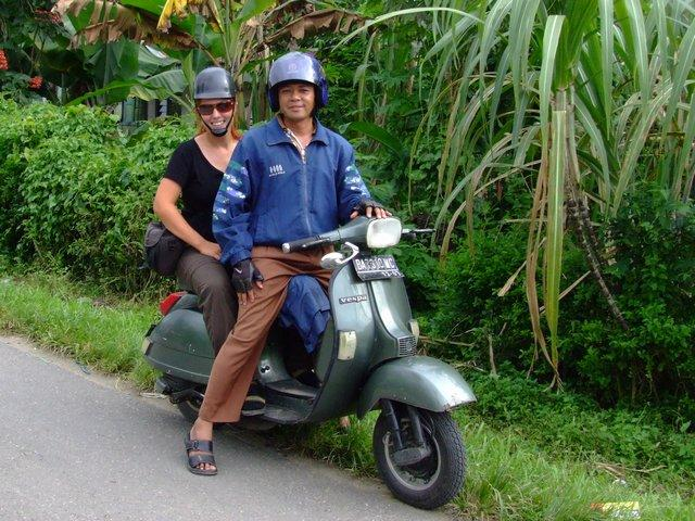 together on the vespa