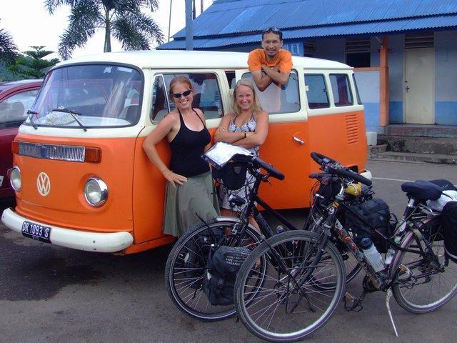 Joe's pretty orange van