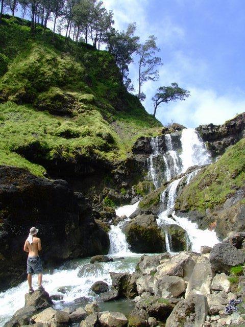 waterfall at hotspring