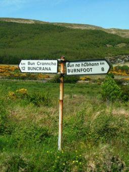 between Buncrana and Burnfoot