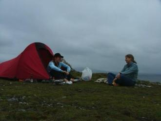 camping with Catriona