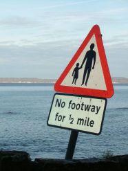 no footway