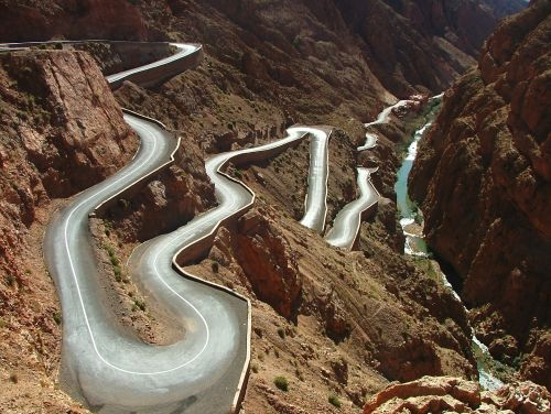 road in the Atlas mountains
