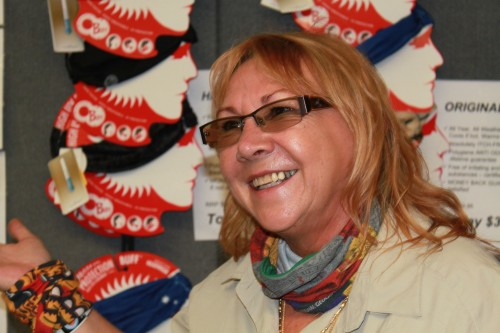 Inge at the Buff stand