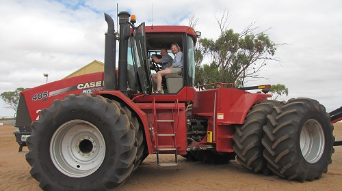 showing them 'my' tractor