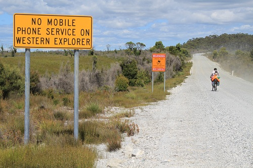 No mobile phone service on the Western Explorer