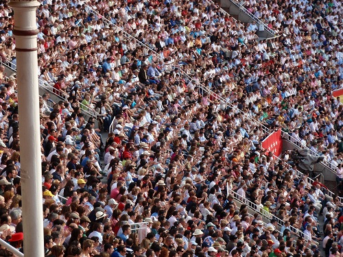 The crowds at the fight