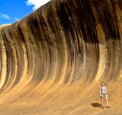 Mum at Wave Rock