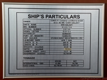 Ship Particulars