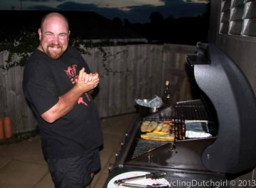 Rob preparing a great Kiwi-BBQ