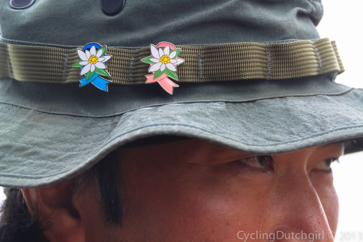 Ranger with Edelweiss headpins
