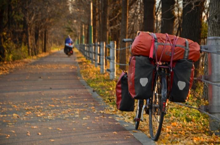 Bike road into Chuncheon