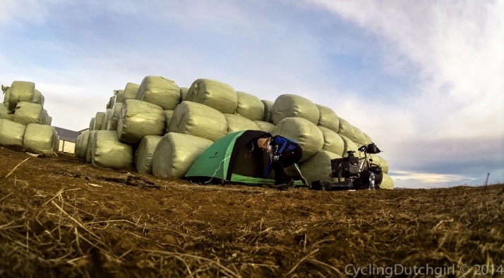 camping by the hay