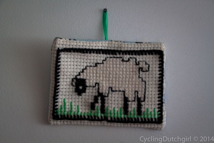 Sheep on the wall