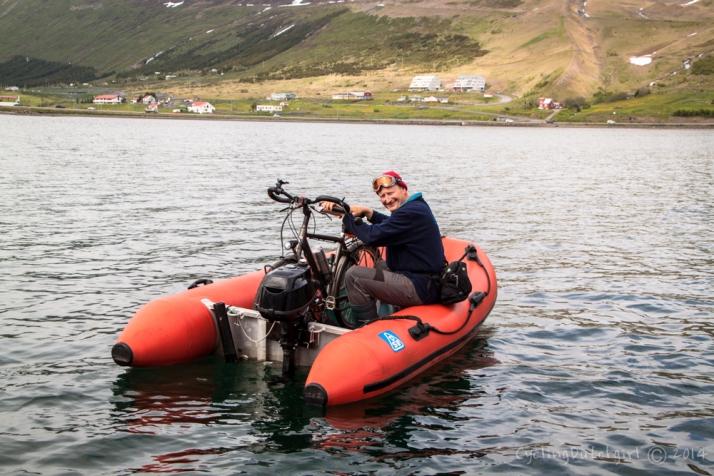 bike on boat