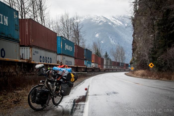 train, road, rock