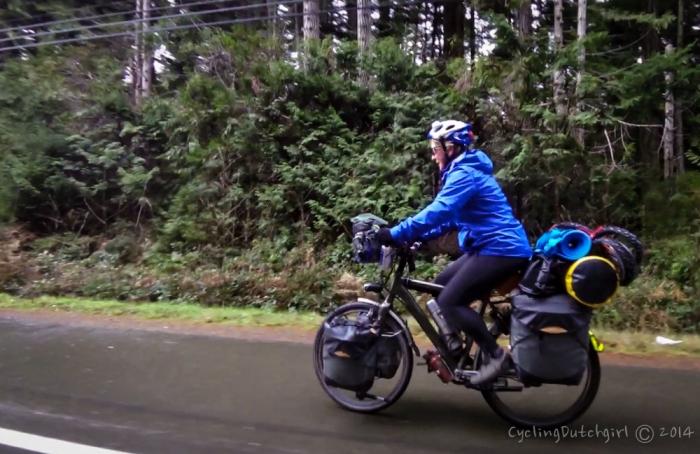 Christine on my bike