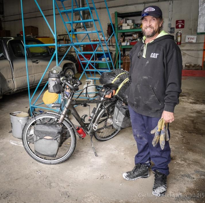 Steve and my clean bike.