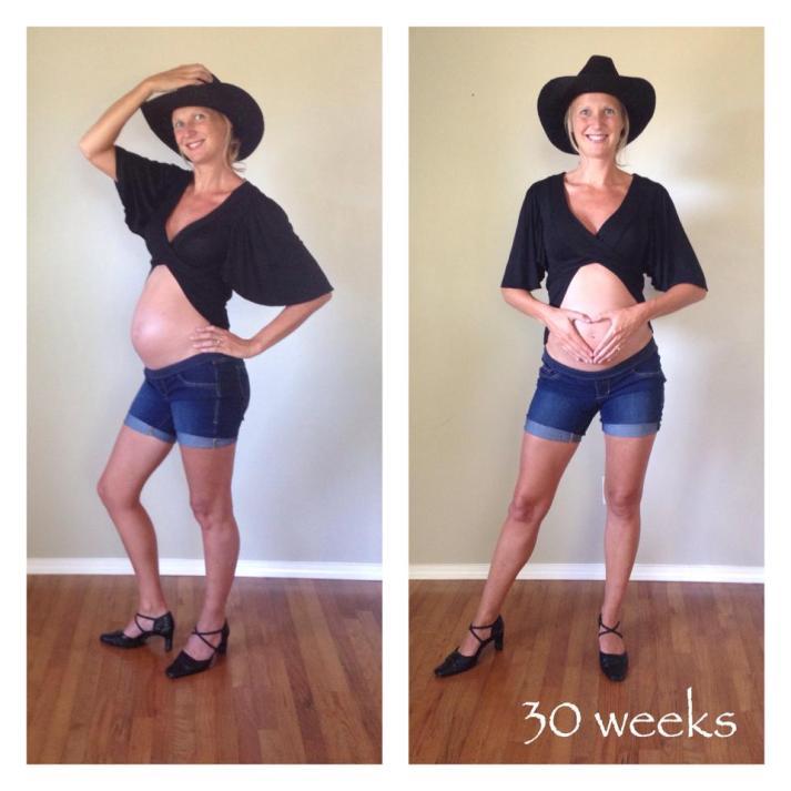 Carla, 30 weeks pregnant