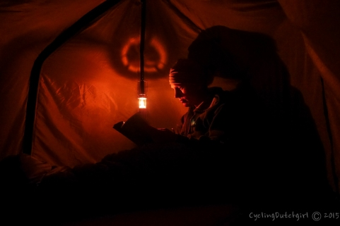 me in my tent