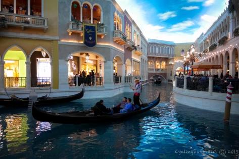 gondola's in the Venatian.