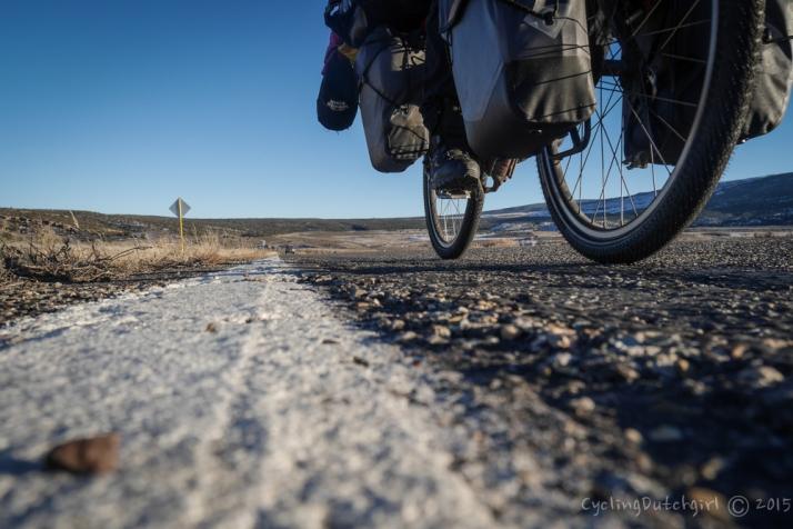 bicycling along