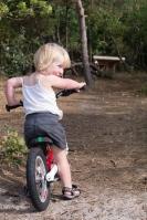 happy on bike